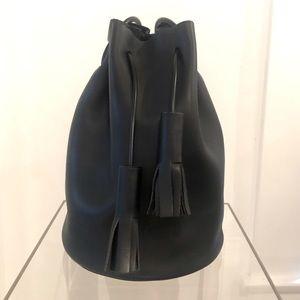 BUILDING BLOCK Black Bucket Bag - Large